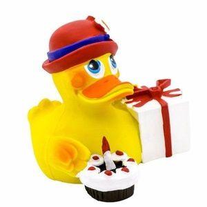 LANCO Soft Rubber Bath Duckie Happy Birthday Duck